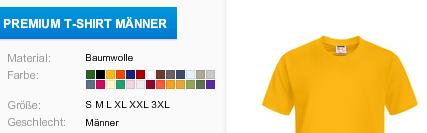 Orangenes Premium T-Shirt