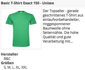Grünes Basic T-Shirt