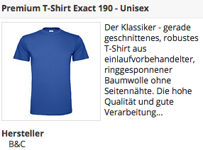 Blaues Premium T-Shirt