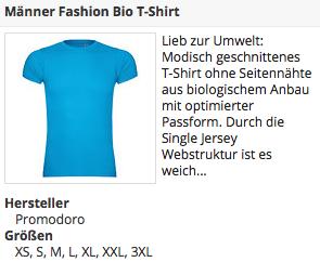 Blaues Fahsion BIO T-Shirt
