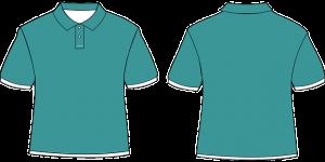 Grünes Firmen Poloshirt als Vorlage für weiteren Druck